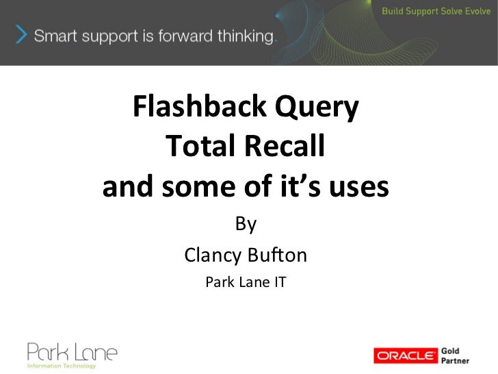 Dejting Presentation Flashback Query