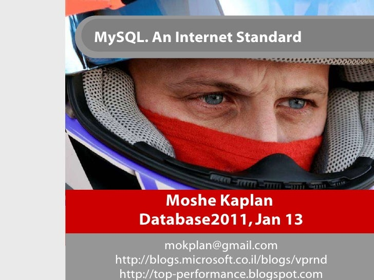 Moshe Kaplan  Database2011, Jan 13 [email_address] http://blogs.microsoft.co.il/blogs/vprnd http://top-performance.blogspo...