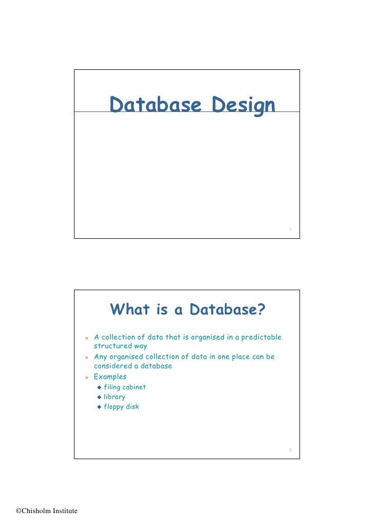 Database Design                                                                                         1                 ...