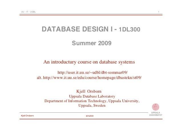 UU - IT - UDBL                                                                   1                   DATABASE DESIGN I - 1...