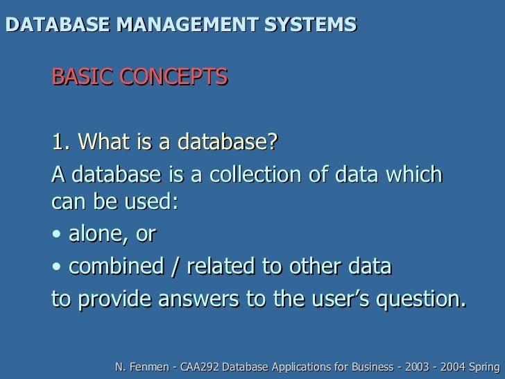 Database management system presentation
