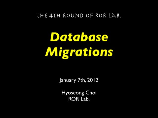 Rails Database Migrations, Season 1
