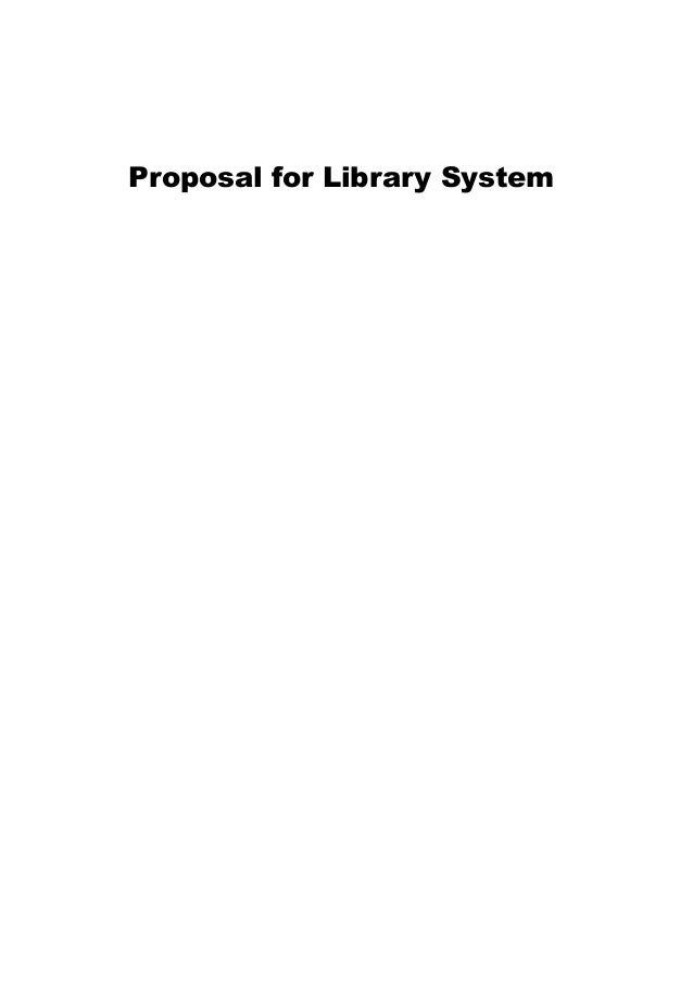 Proposal for Library System
