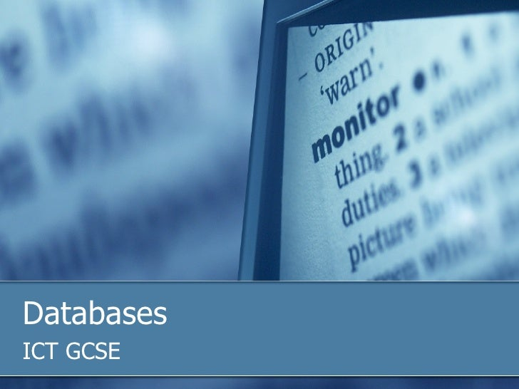 Databases ICT GCSE