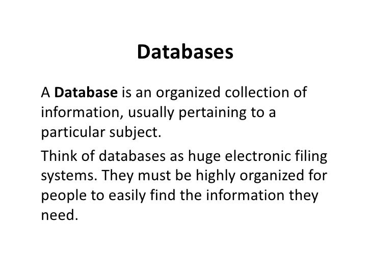 E-LEARN: Databases