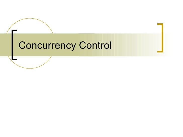 Databases: Concurrency Control