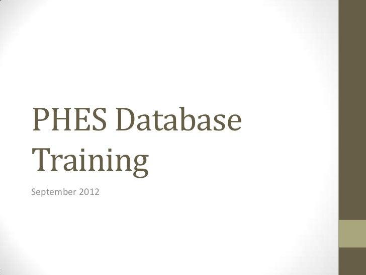 Databases 2012