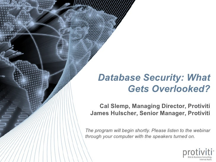 Database Security: What                                                                                                  G...