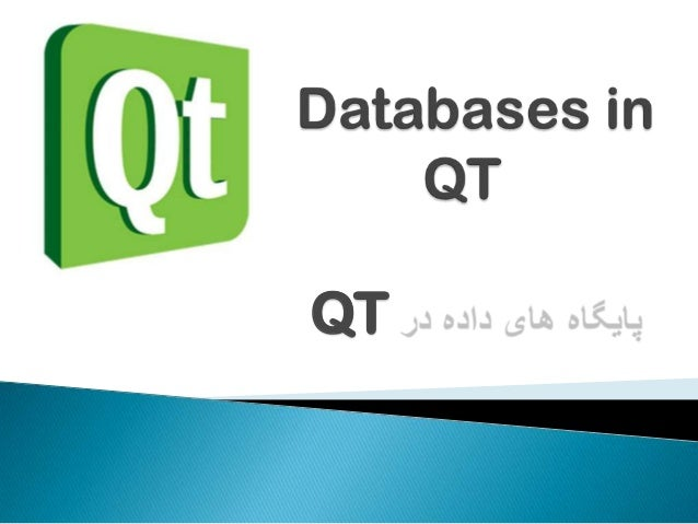 Databases in Qt