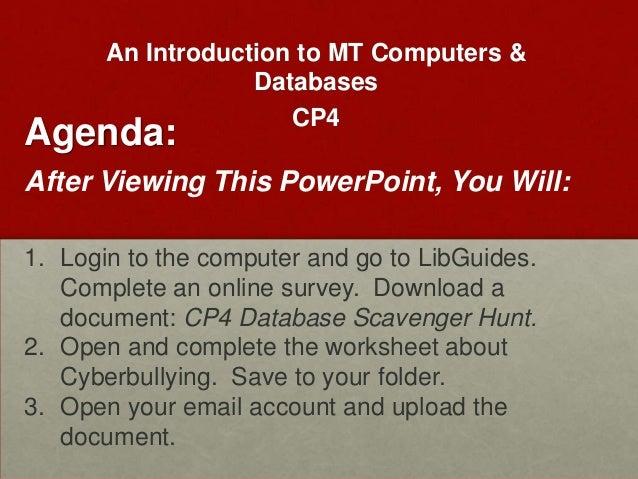 Databases mtcp4