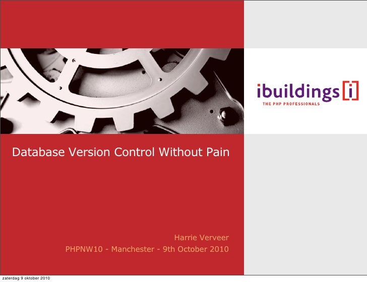 Database version control without pain - the PHPNW10 version