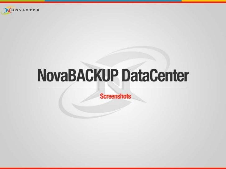 NovaBACKUP DataCenter (Screenshots - German)
