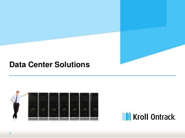 Kroll Ontrack - Data center solutions