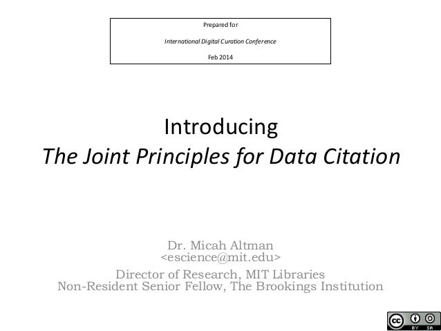 Data citationworkshop idcc_2014 Altman