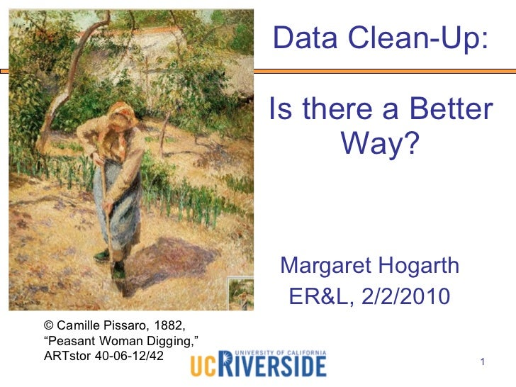 Data Clean-up: Is There A Better Way?