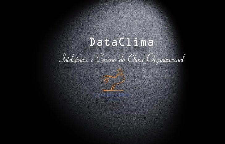 DataClima Inteligência e Cenário do Clima Organizacional