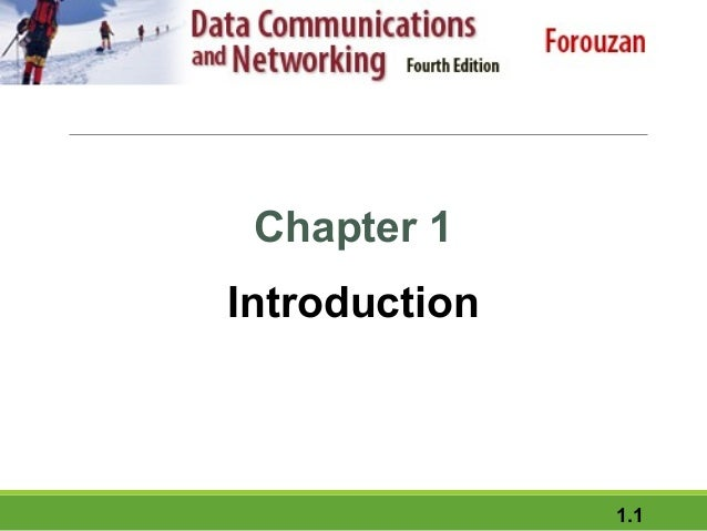 Data communication and networking - introduction