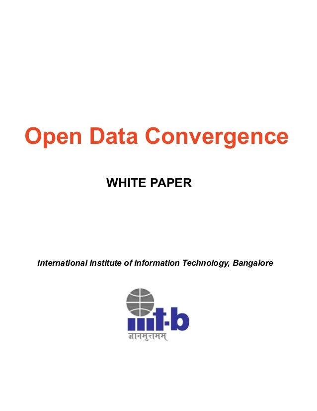 Data Convergence White Paper