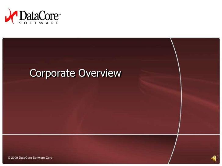 DataCore Corporate Introduction