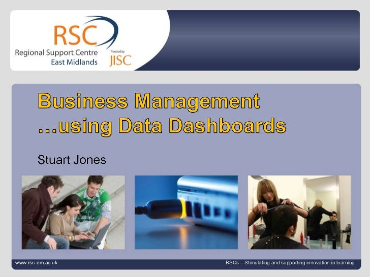 Business Management using Data dashboards