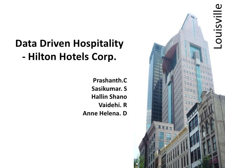 ONQ Data driven hospitality By Hilton hotels corp case study