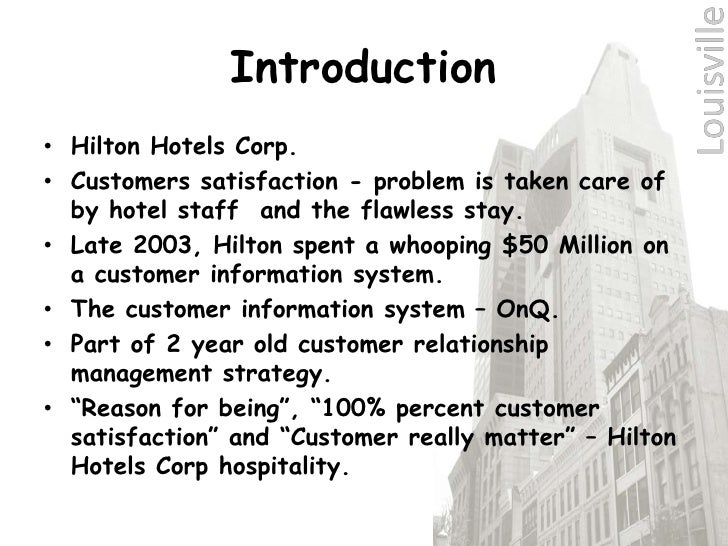 hilton hotels corporation essay Hilton worldwide holdings inc, formerly hilton hotels corporation, is an  american multinational hospitality company that manages and franchises a  broad.