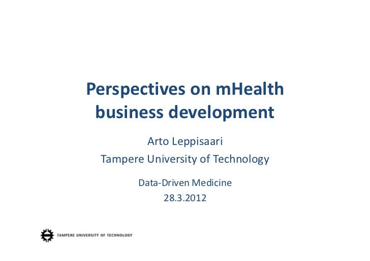 Data driven medicine - Perspectives on mHealth