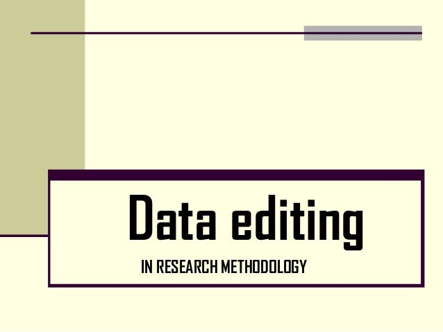 Research editing
