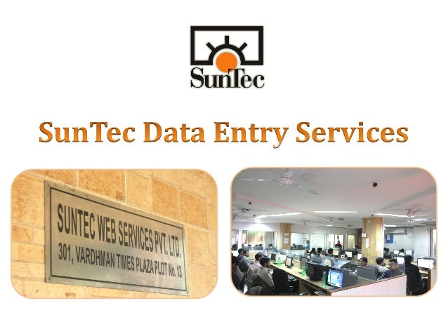 Data entry services of sun tec india