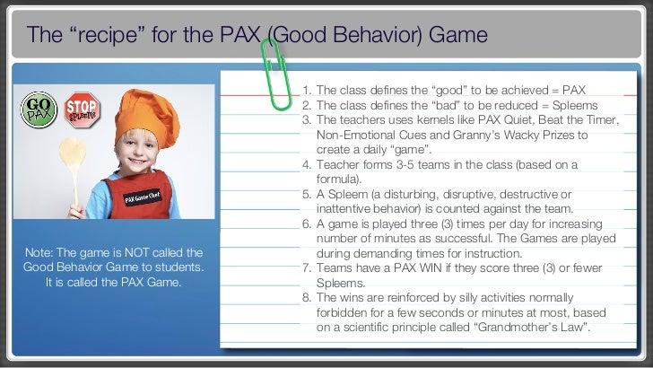 pax good behavior game data outcomes
