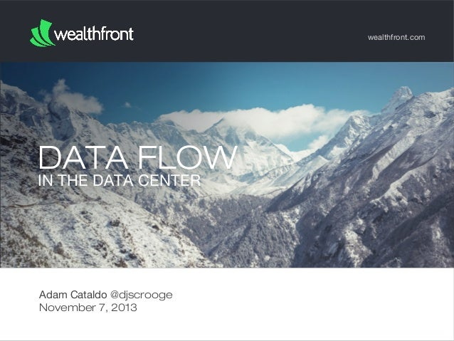 wealthfront.com  DATA FLOW IN THE DATA CENTER  Adam Cataldo @djscrooge November 7, 2013