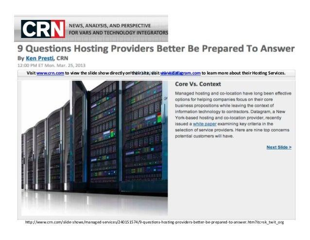 Datagram crn 9 questions hosting