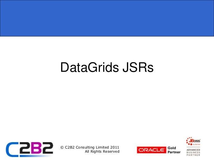 DataGrids JSRs<br />