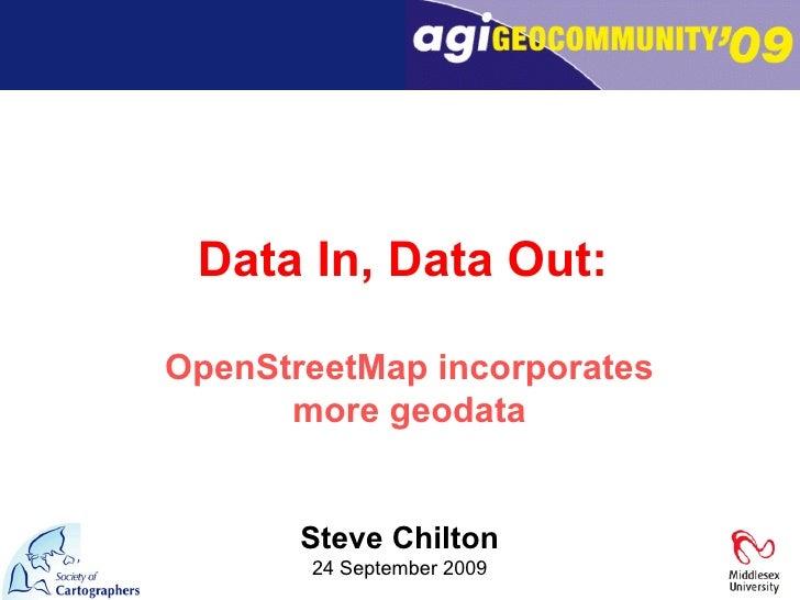 Data In Data Out   Steve Chilton
