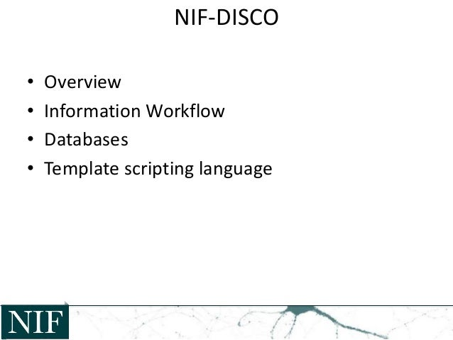 NIF Data Ingest