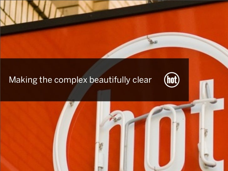 Making the complex beautifully clear                                       1