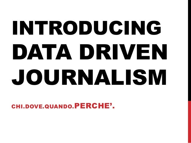 An Introduction to Data Journalism - Case Studies