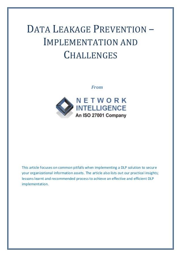 Data Leakage Prevention (DLP)