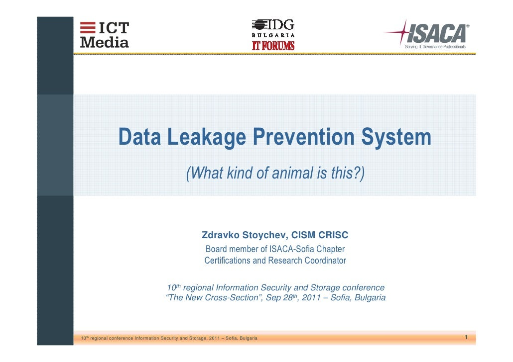 Zdravko Stoychev, CISM CRISC                                      10th regional Information Security and Storage conferenc...