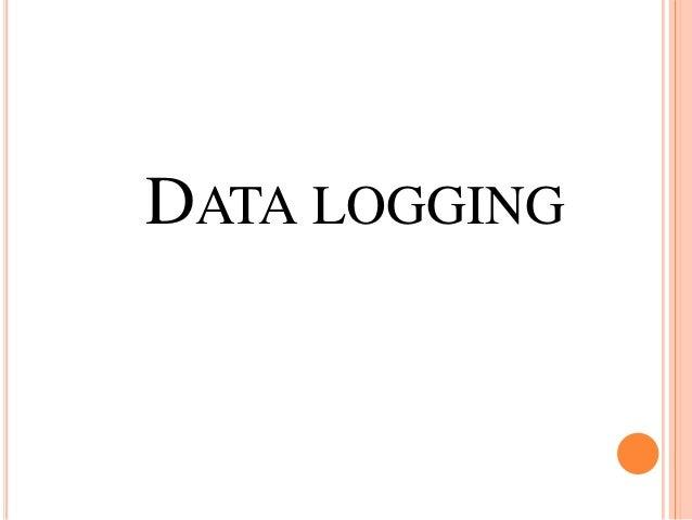 Datalogging slide