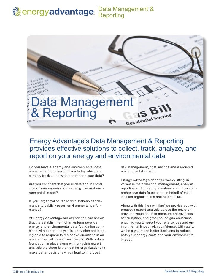 Data Management and Reporting Brochure