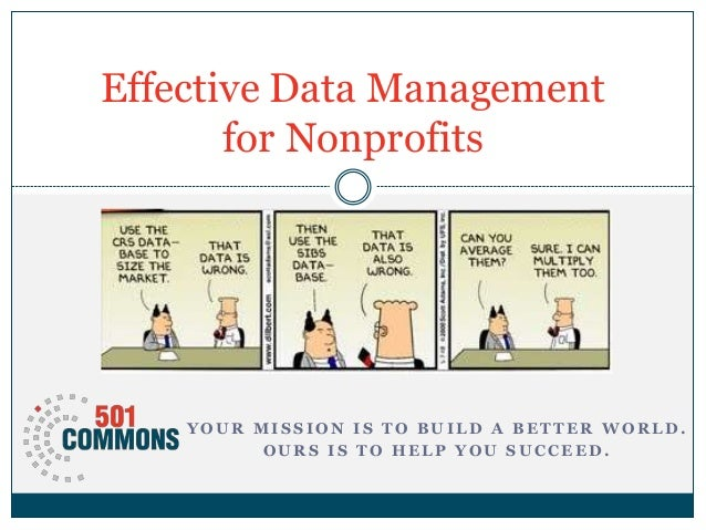 Data managementfornonprofits   2014-06-19