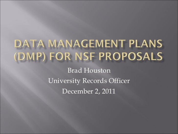 Brad Houston University Records Officer December 2, 2011