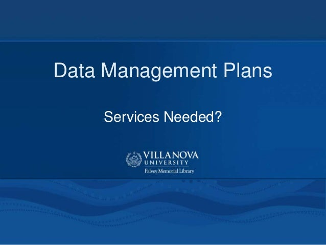 Data Management Plans Services Needed?