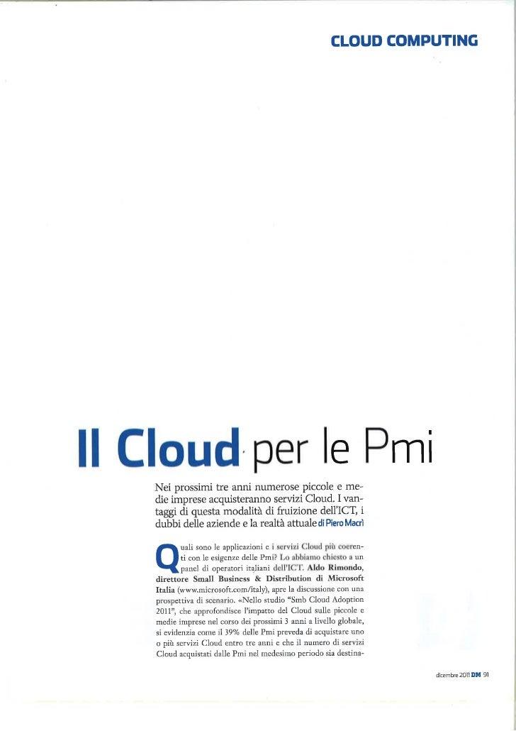 DataManager 2011 - Il Cloud per le PMI