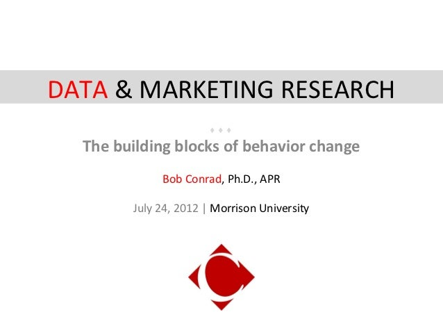 Data and Marketing Research