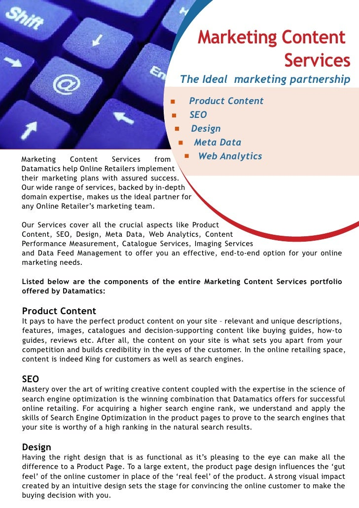 Marketing-Content Services & Solutions