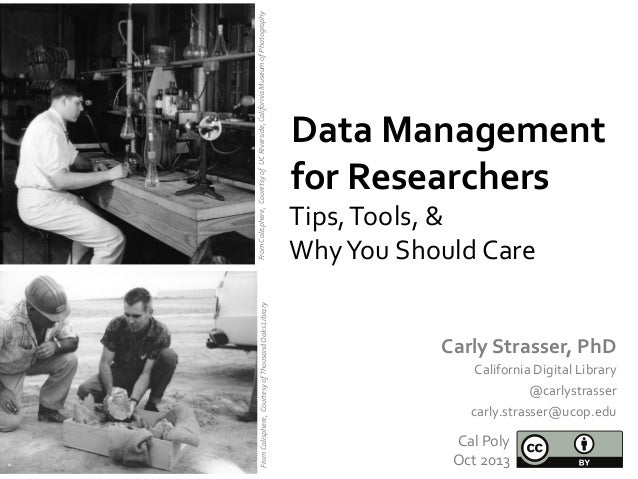 Cal Poly - Data Management for Researchers