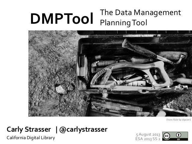 Data Management Planning for ESA 2013