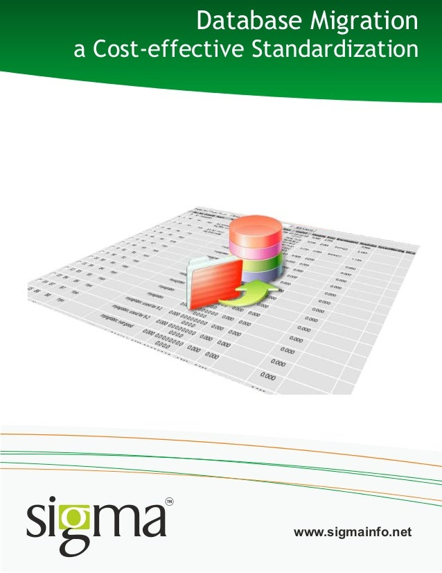 Database Migrationa Cost-effective Standardizationwww.sigmainfo.net